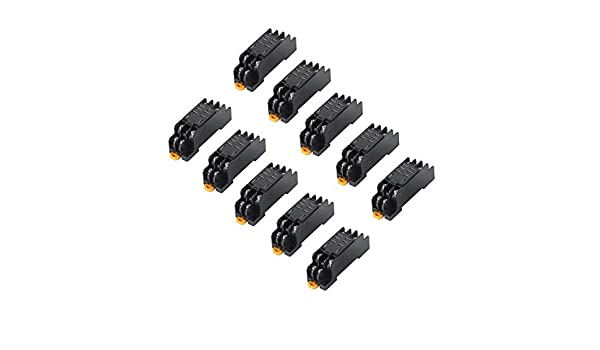10pcs PTF08A Mini Relay Socket Base for LY2NJ HH62P-L JQX-13F-2Z Power Relay