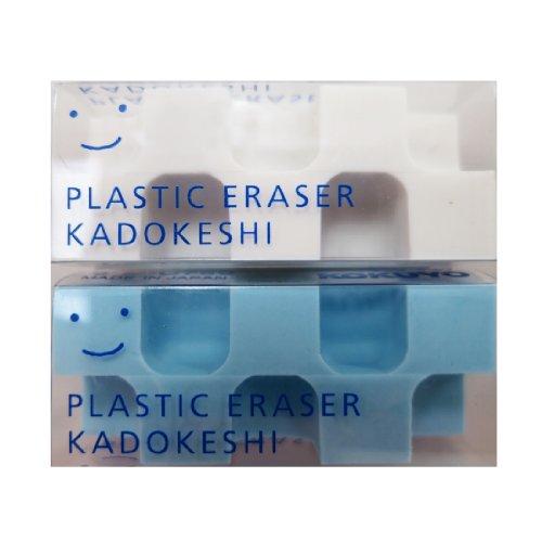 コクヨ 消しゴム カドケシプチ 鉛筆用 ブルー・ホワイト ケシ...