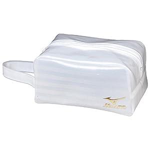 MIZUNO(ミズノ) プールバック 角型ポーチ(小) 消臭テープ付 N3JP501202 L20×W11×H11cm ホワイト