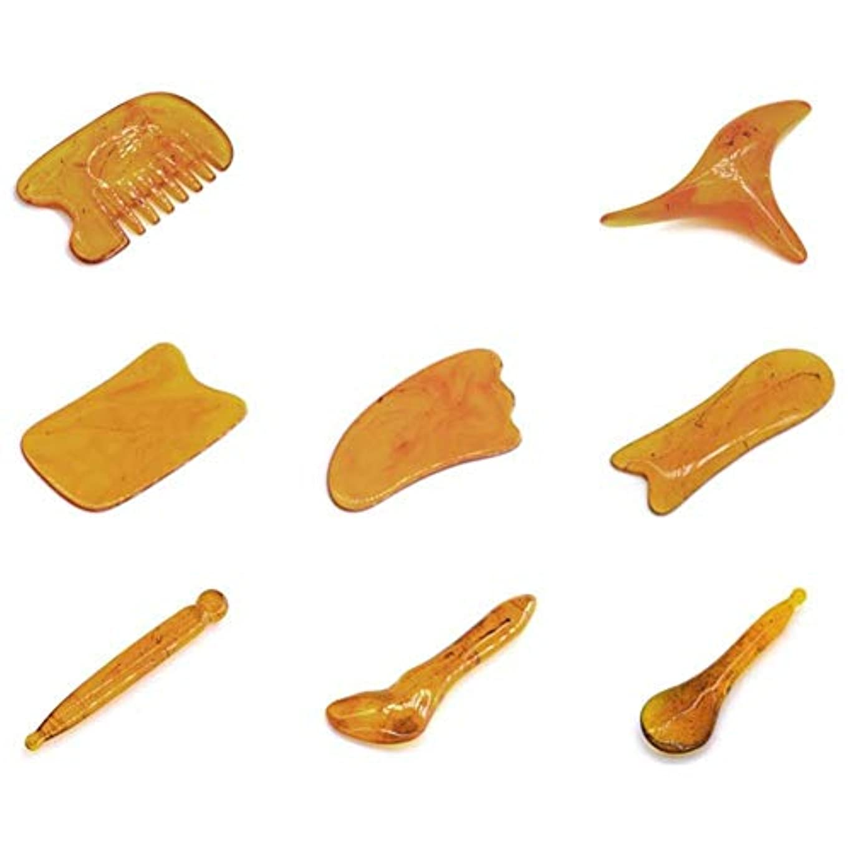 式中庭引退したGua Shaのこするマッサージ用具のハンドメイドのヒスイGuasha板、用具SPAの刺鍼術療法の表面腕のフィートの小さい三角形の形の引き金のポイント処置