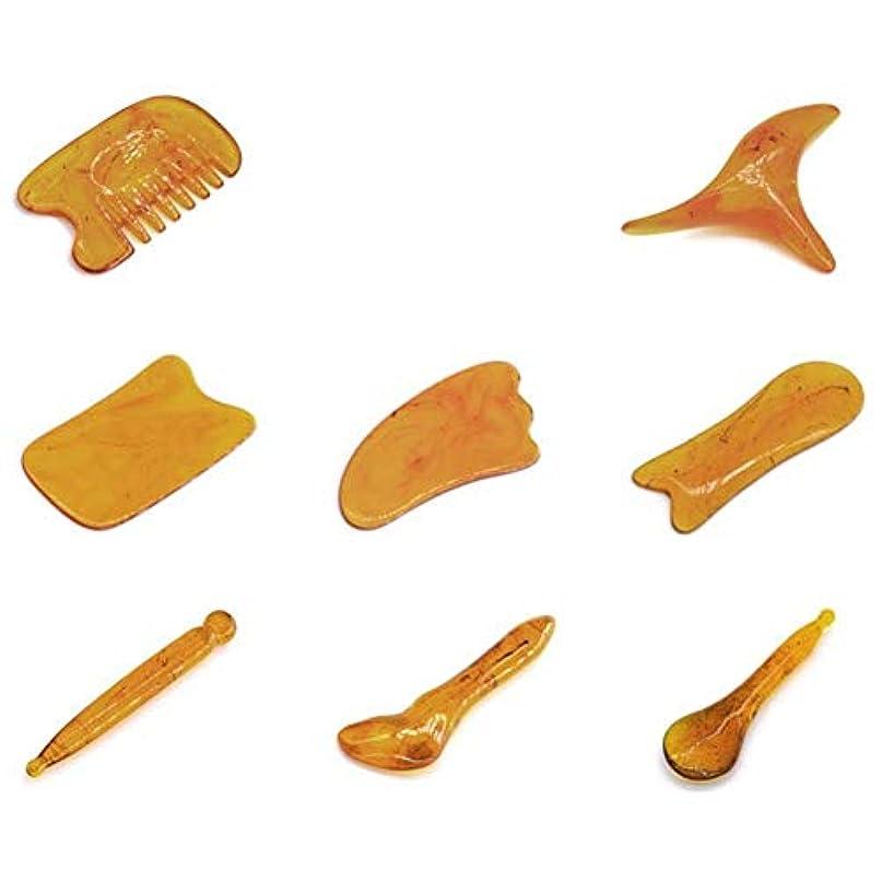 件名悲観的偽善Gua Shaのこするマッサージ用具のハンドメイドのヒスイGuasha板、用具SPAの刺鍼術療法の表面腕のフィートの小さい三角形の形の引き金のポイント処置
