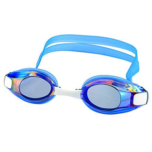 [해외]IPOW FITNESS 고글 수영 고글 블랙 미러 고글 3 개 사이즈 남녀 겸용 흐림 방지 고글 케이스 (블랙) 포함/IPOW FITNESS goggles swimming goggles black mirror goggles 3 sizes unisex dual use anti-fog goggle case (black) included