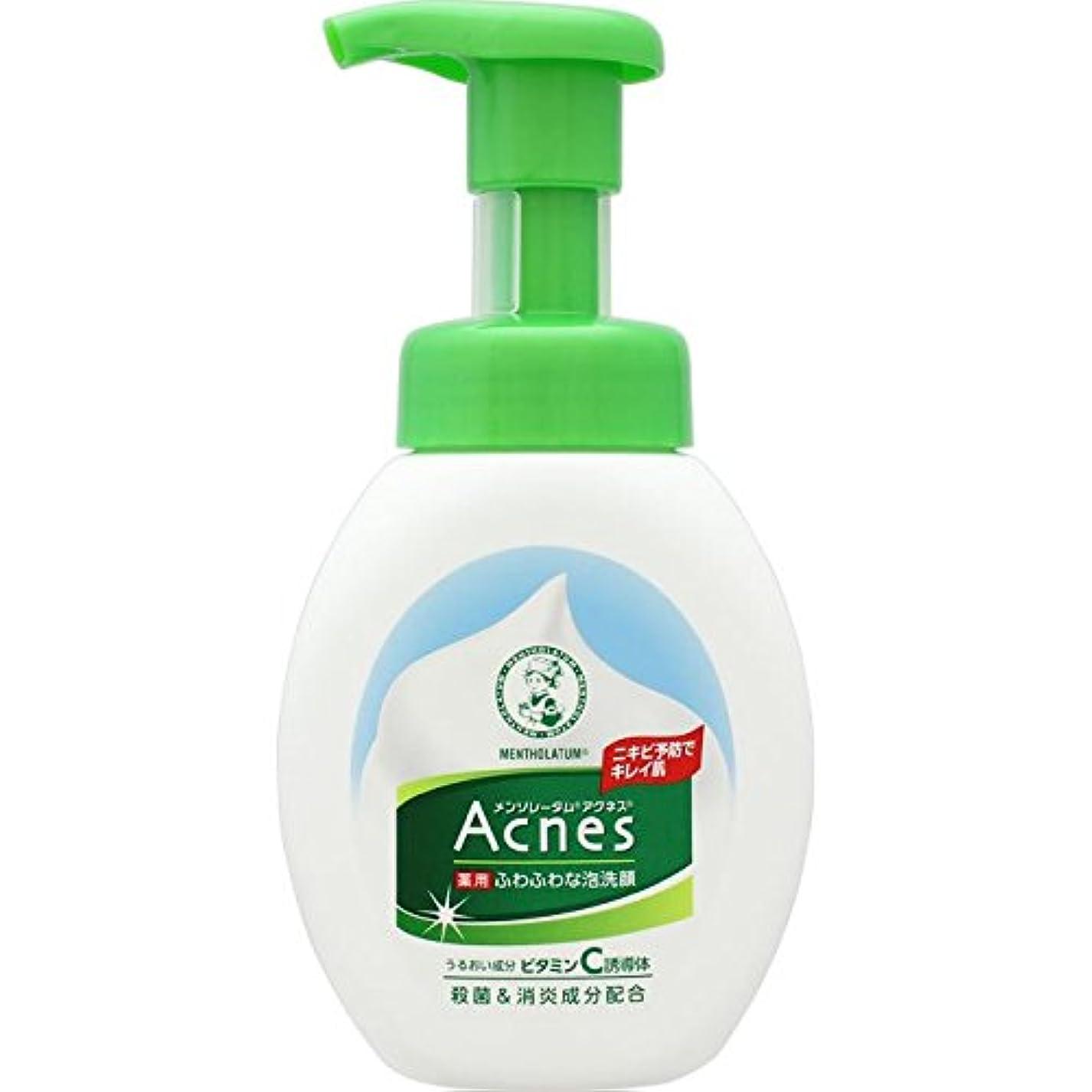 私達常習者迅速【医薬部外品】メンソレータム アクネス ニキビ予防薬用ふわふわ泡洗顔 160mL
