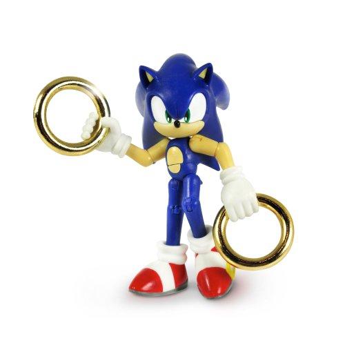 Sonic The Hedgehog 3-inch Action Figure Sonic and Gold Rings ソニック·ザ·ヘッジホッグ3インチアクションフィギュアソニックとゴールドリング