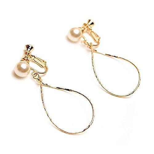 [해외]petit mariage [페 티 마리아 쥬] 일제 7mm 진주 &  루프 디자인 귀걸이/petit mariage [Petti Mariage] made in Japan 7mm pearl &  loop design earrings