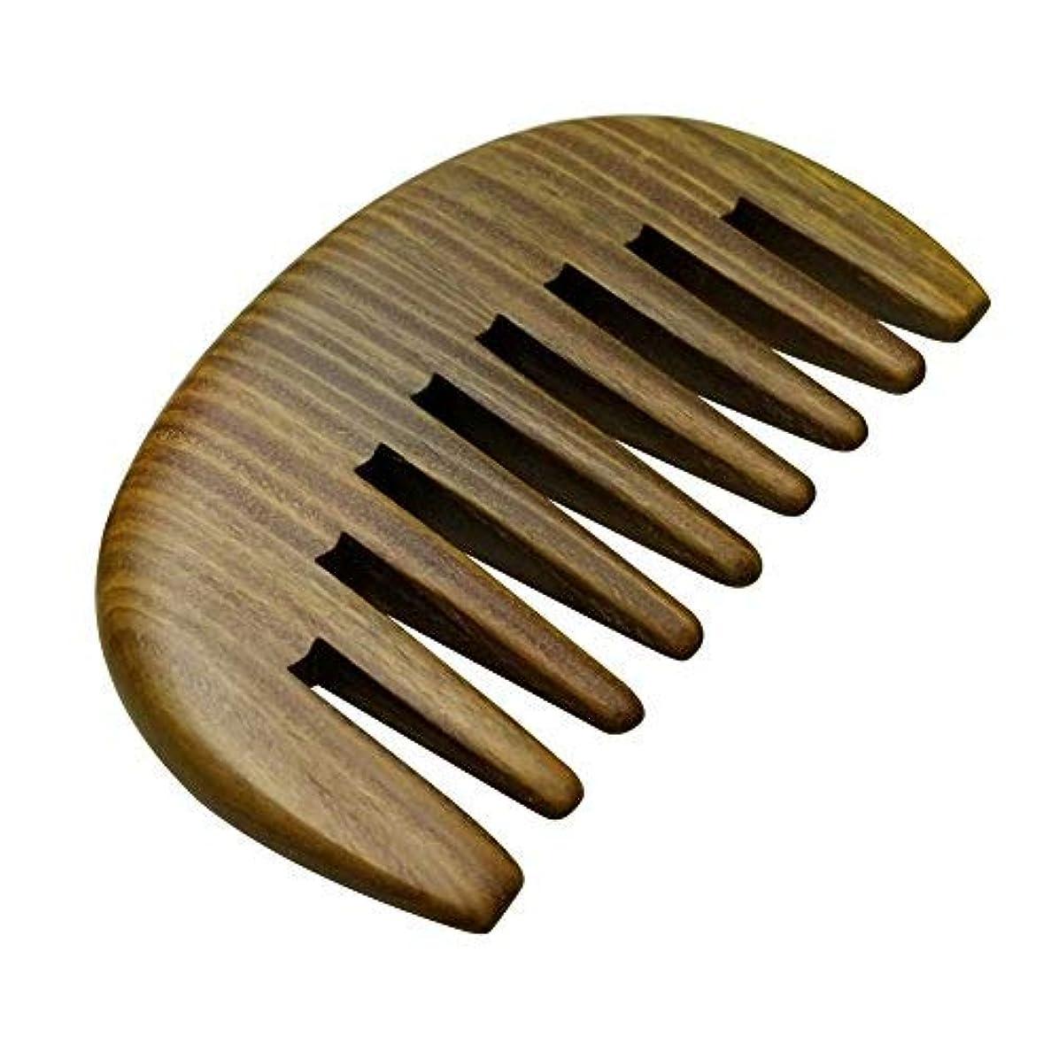 バンカー戦略道に迷いましたHair Comb Wooden Wide Tooth Detangling Comb for Curly Hair Anti-Static Wood Combs Handmade Natural Sandalwood...