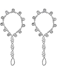 Bellady 2Pcs Pearl Ankle Chain Barefoot Sandals with Starfish Beach Wedding Foot Jewelry