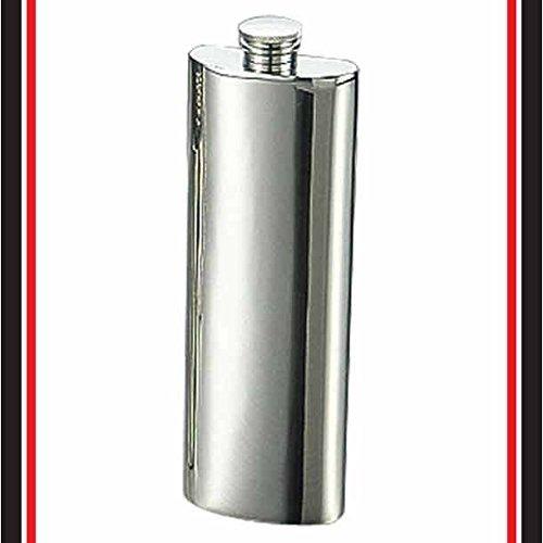 ステンレス製ポケットフラスコ角型 0.11L
