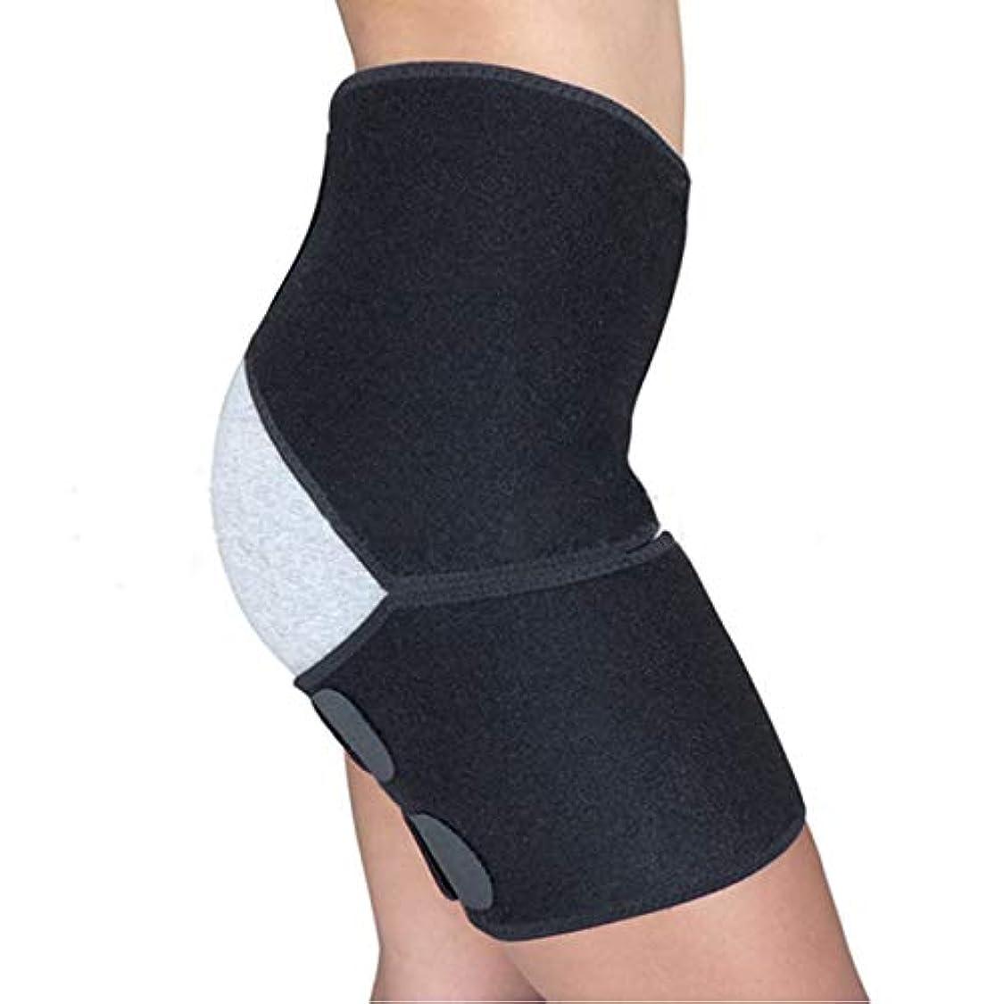 オペラインタビューシロクマTOOGOO ボディメイト圧迫包帯股関節腿のクワッドハムストリングの関節坐骨神経痛の痛みを軽減用ストラップ、メンズ/女性用ヘルニアリカバリーレッグ用調節可能なサポートブレース