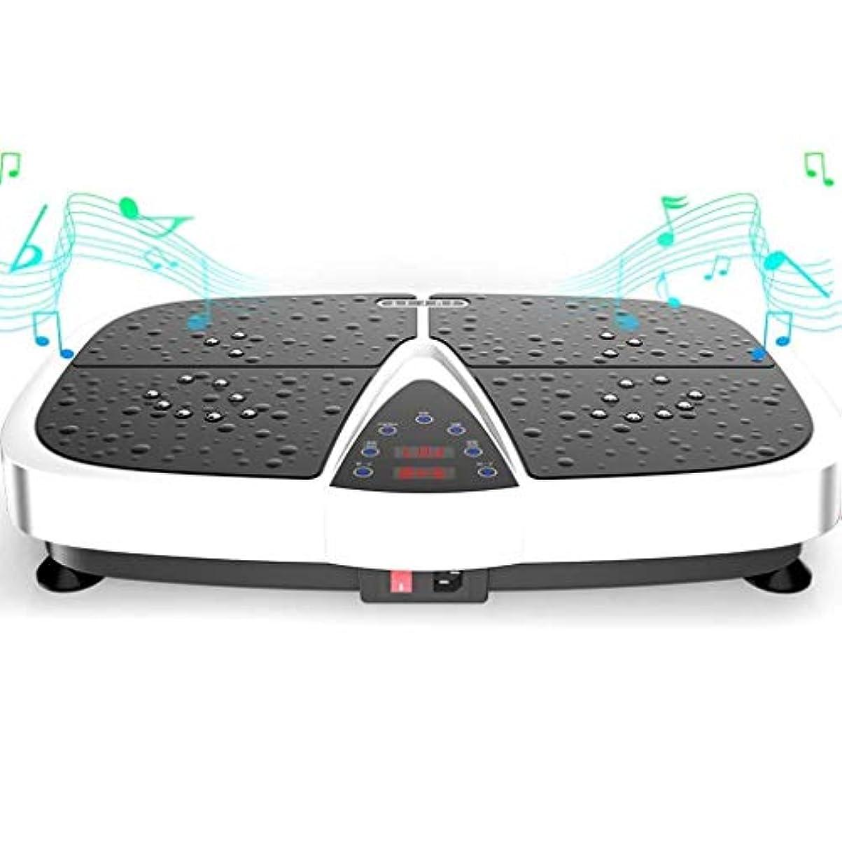夜明けプレビスサイトアルカイック減量機、スポーツ衝撃吸収フィットネスモデル減量機、Bluetooth音楽スピーカーとリモートコントロール、ユニセックス振動板、家族/ジムに適しています (Color : 白)