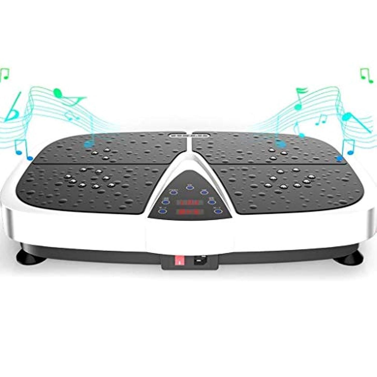 スパイ注文少なくとも減量機、スポーツ衝撃吸収フィットネスモデル減量機、Bluetooth音楽スピーカーとリモートコントロール、ユニセックス振動板、家族/ジムに適しています (Color : 白)