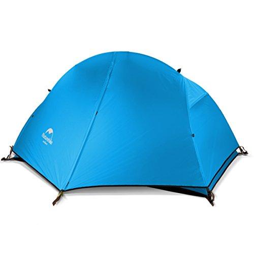 Naturehike公式ショップ テント 1人用テント サイクリングテント 超軽量 防水PU3000以上 アウトドア キャンピングテント (ブルー(210T チェック柄のナイロン生地))