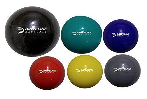 Driveline PlyoCareボール: 重みのあるプライオボール 野球の腕のケアとベロシティトレーニング用 Set of 6