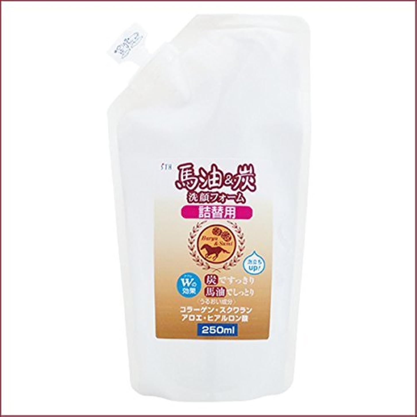 馬油&炭 洗顔フォーム 詰替用 250mL