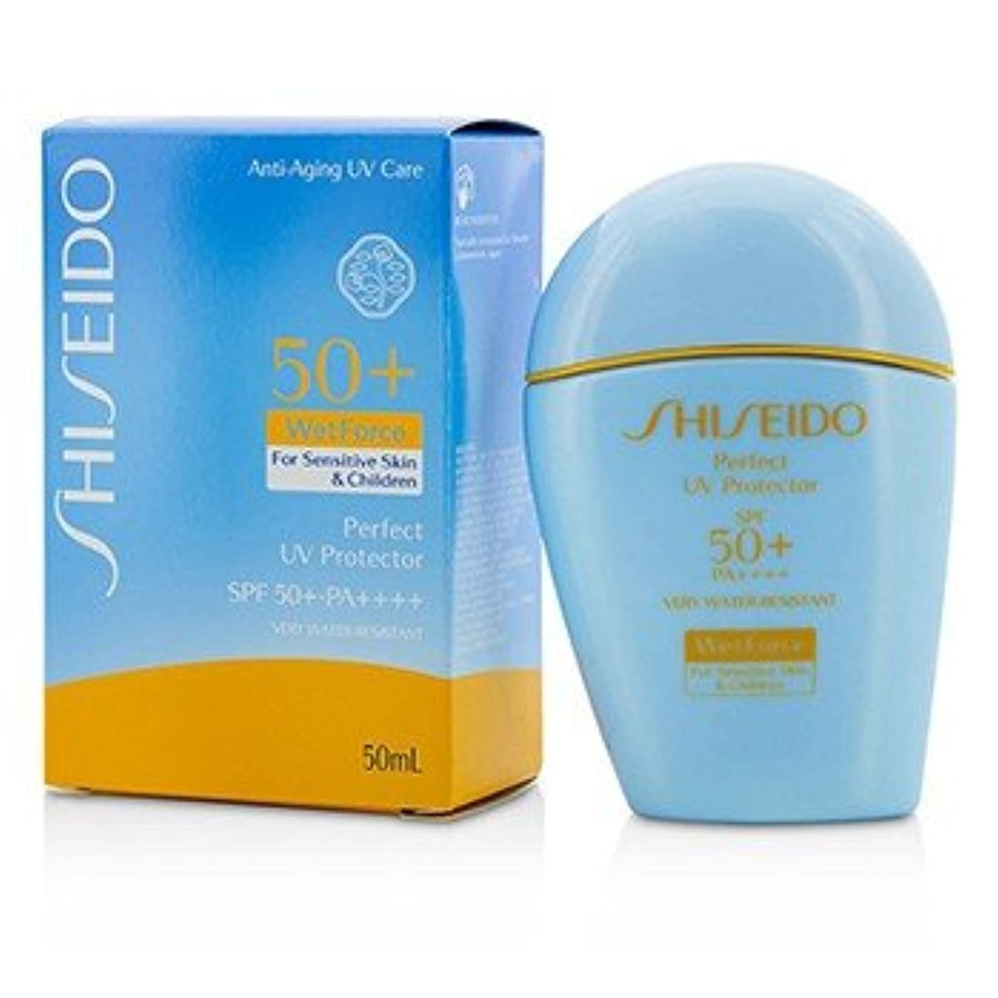洗う進化メール[Shiseido] Perfect UV Protector S WetForce SPF 50+ PA++++ (For Sensitive Skin & Children) 50ml/1.7oz