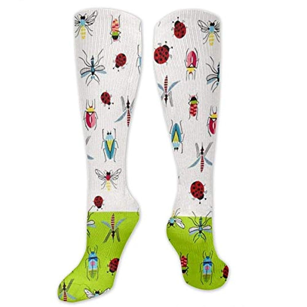 ビジター貝殻乏しい靴下,ストッキング,野生のジョーカー,実際,秋の本質,冬必須,サマーウェア&RBXAA Colorful Cartoon Insects Green Socks Women's Winter Cotton Long Tube...