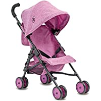 Triokid My First Baby Doll Stroller Miniline Grape Purple Travel Stroller Portable Stroller Drawable Fabric with