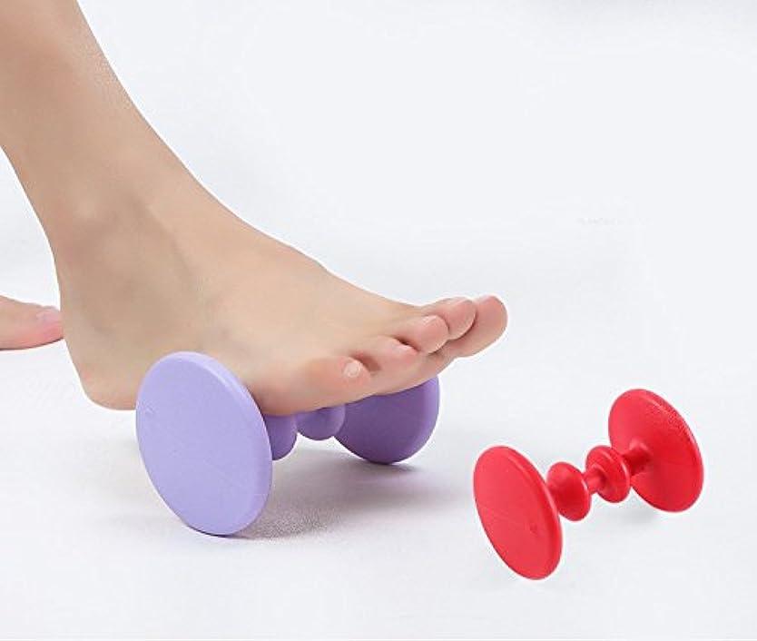 肉の奇跡的な頭フットマッサージャー - アメージングモール - 理想的な足の痛みの救済マッサージ - 効果的なローラーの足のローラーマッサージャー - 推奨フットマッサージャーランナー-1ペア