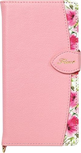 Natural Design FLEUR手帳型 マルチサイズ対応 (マルチタイプ) ピンク (カードポケット&ハンドストラップ付)の詳細を見る
