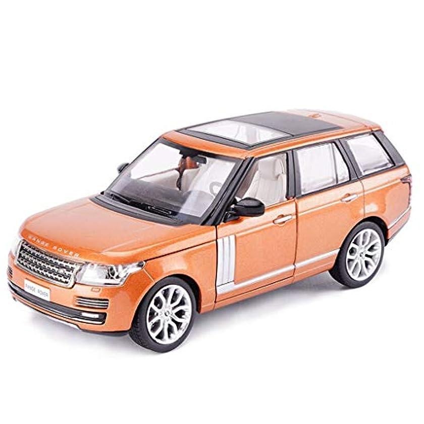 熟読する確率保存CCJWカーモデルカー1:26ランドローバーレンジローバーシミュレーション合金ダイカスト玩具ジュエリースポーツカーコレクションジュエリー20x7.5x6.5CM(カラー:オレンジ)