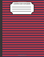 Composition Notebook: Stripe School Journal Writing Notebook Paper Back to School Art Pattern Cute Design Diary School Supplies Writing Book Student Notes College Pad