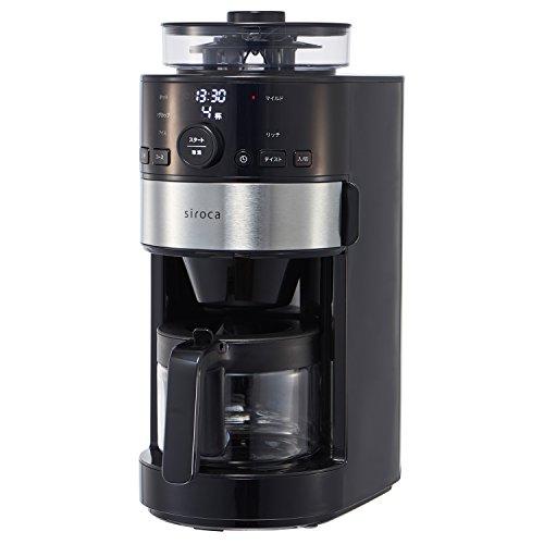 siroca コーン式全自動コーヒーメーカー SC-C111 ステンレスシルバー [コーン式ミル/ガラスサーバー/紙フィ...