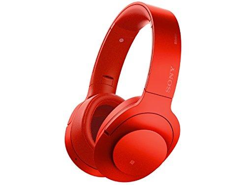 ソニー SONY ワイヤレスノイズキャンセリングヘッドホン h.ear on Wireless NC MDR-100ABN : ハイレゾ対応 Bluetooth/LDAC/NFC対応 マイク付き/ハンズフリー通話可能 シナバーレッド MDR-100ABN R