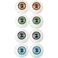 SONONIA 16個 アクリル製 ドール 手作り アイ ぬいぐるみ 部品 16mm 4色