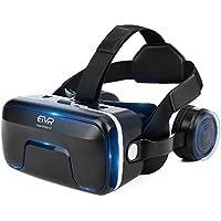 ETVR VR ゴーグル 3D メガネ 超3D映像/ゲーム体験 ヘッドセット付き 良い臨場感Iphone/Android スマホ 対応 (ブラック)