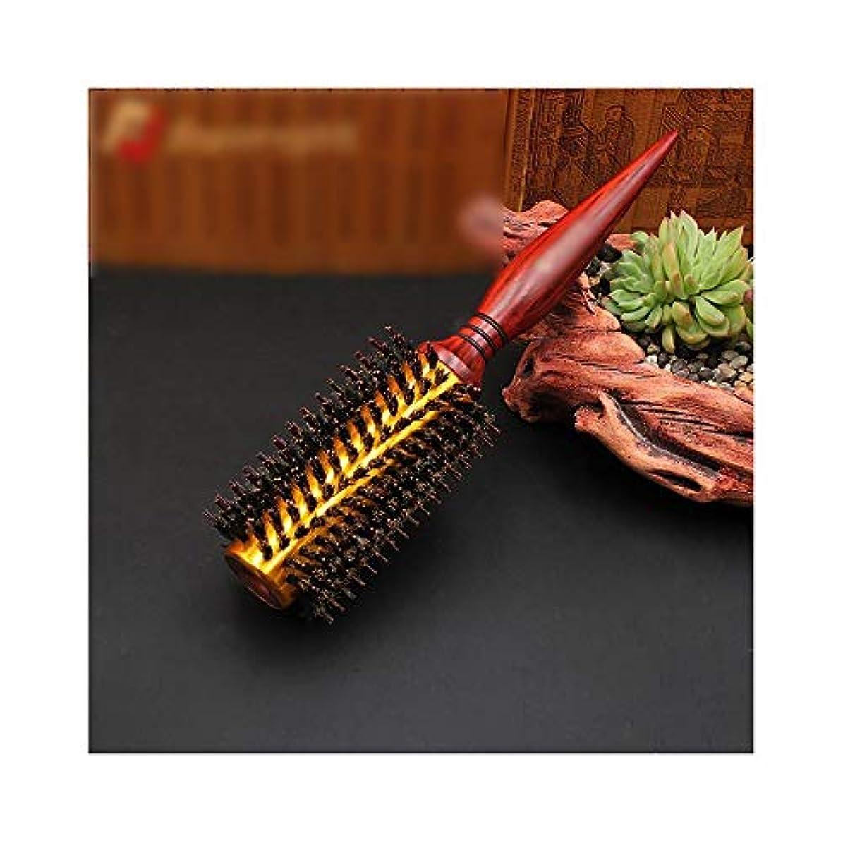 群衆適格焦げFashian毛ラウンドスタイリングヘアブラシ - すべてのヘアスタイルのためにロールヘアブラシ ヘアケア (サイズ : 16 rows)