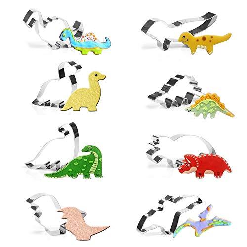 GWHOLEクッキー型 恐竜 ドラゴン 型抜き キャラクター ステンレスかわいい 8個セット