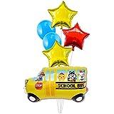 バルーン ワールドスクール バス バルーン 車 バルーン パーティー用品 ハッピーバースデー デコレーション バルーン 6個パック