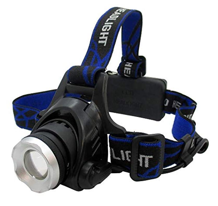 ちなみに透明に圧倒するLEDズームヘッドライト 800ルーメン 強力 非常 災害 キャンプ 夜間作業 ヘッドライト LED 乾電池