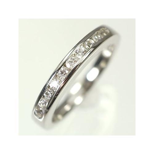[キュートジュエリー]Cute jewerly ダイヤモンド 指輪 K10WG ダイヤモンド0.20ct エタニティーリング 12