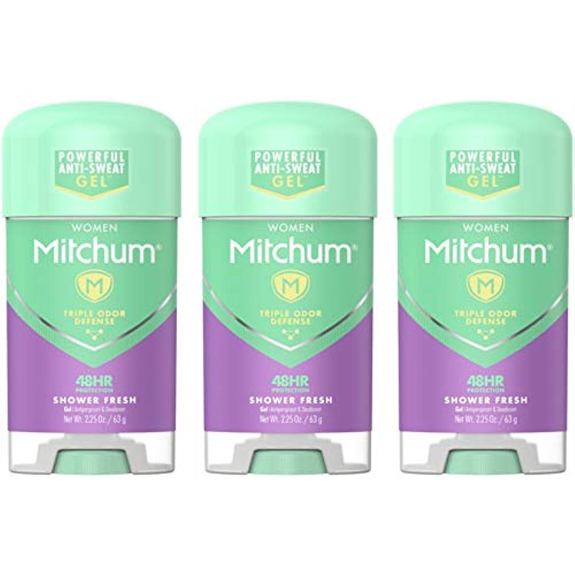 危険を冒します方程式日Mitchum Deodorant Womens Gel Shower Fresh 2.25oz (3 Pack) by Mitchum For Women