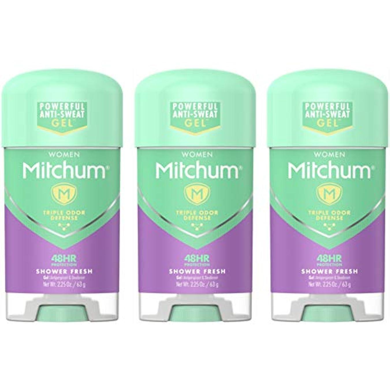 コードレス義務付けられた変なMitchum Deodorant Womens Gel Shower Fresh 2.25oz (3 Pack) by Mitchum For Women