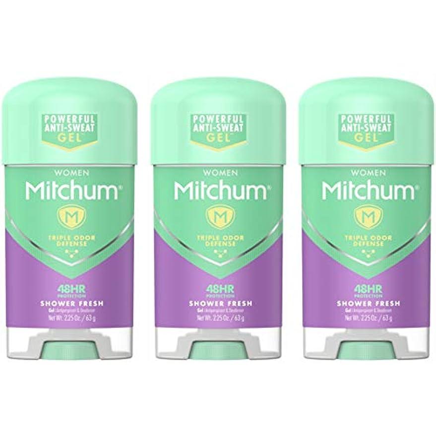 ミリメートル超えて伝えるMitchum Deodorant Womens Gel Shower Fresh 2.25oz (3 Pack) by Mitchum For Women