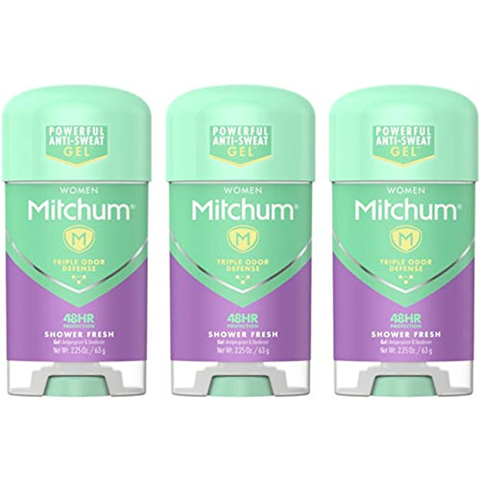法廷誰が変化するMitchum Deodorant Womens Gel Shower Fresh 2.25oz (3 Pack) by Mitchum For Women