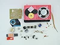 自作 DIY スーパー ヘテロダイン 6石 中波 ラジオ 受信機 製作 キット S66E(ピンク)
