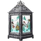 OSALADI Christmas Lanterns Snowman Santa Lantern Lamp LED Xmas Hanging Lantern for Christmas Holiday Costume Party Supplies Favors Decorations
