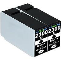 キャノン 互換 インクカートリッジ PGI-2300XLBK 2本 ブラック 大容量タイプ Canon PGI-2300 黒 増量 インクタンク ICチップ付き MAXIFY MB5430 MB5330 MB5130 MB5030 iB4130 iB4030【2黒】YADUNINK