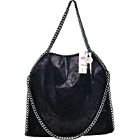 Donalworld Women Chain Paillette Casual Tote PU Leather Shoulder Bag Purse