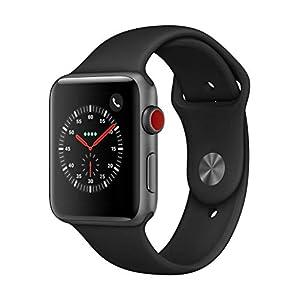 AppleWatch Series3(GPS+Cellularモデル)- 42mmスペースグレイアルミニウムケースとブラックスポーツバンド