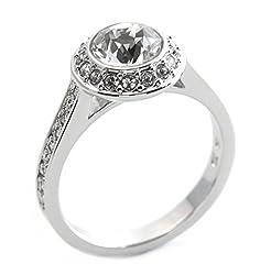 [スワロフスキー]SWAROVSKI Angelic エンジェリック クリスタル クリスタル パヴェ リング 指輪 サイズ52 日本サイズ11号 1081949 [ 並行輸入品 ]