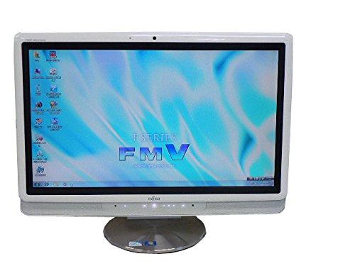 富士通 デスクトップパソコン Windows7 中古パソコン デスクトップ 一体型 本体 Kingsoft Office付き Core 2 Duo DVD 地デジ 4GB/500GB FMV DESKPOWER F/E70T ホワイト