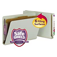 SMD29800 - Smead 29800 Gray/Green End Tab Pressboard Classification Folders with SafeSHIELD Fasteners by Smead