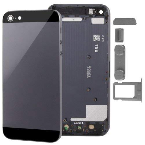 iPhone 5 用 バックフレーム バックパネル バックカバー 修理パーツ ( IMEIオーダーメイド 付き ) ブラック