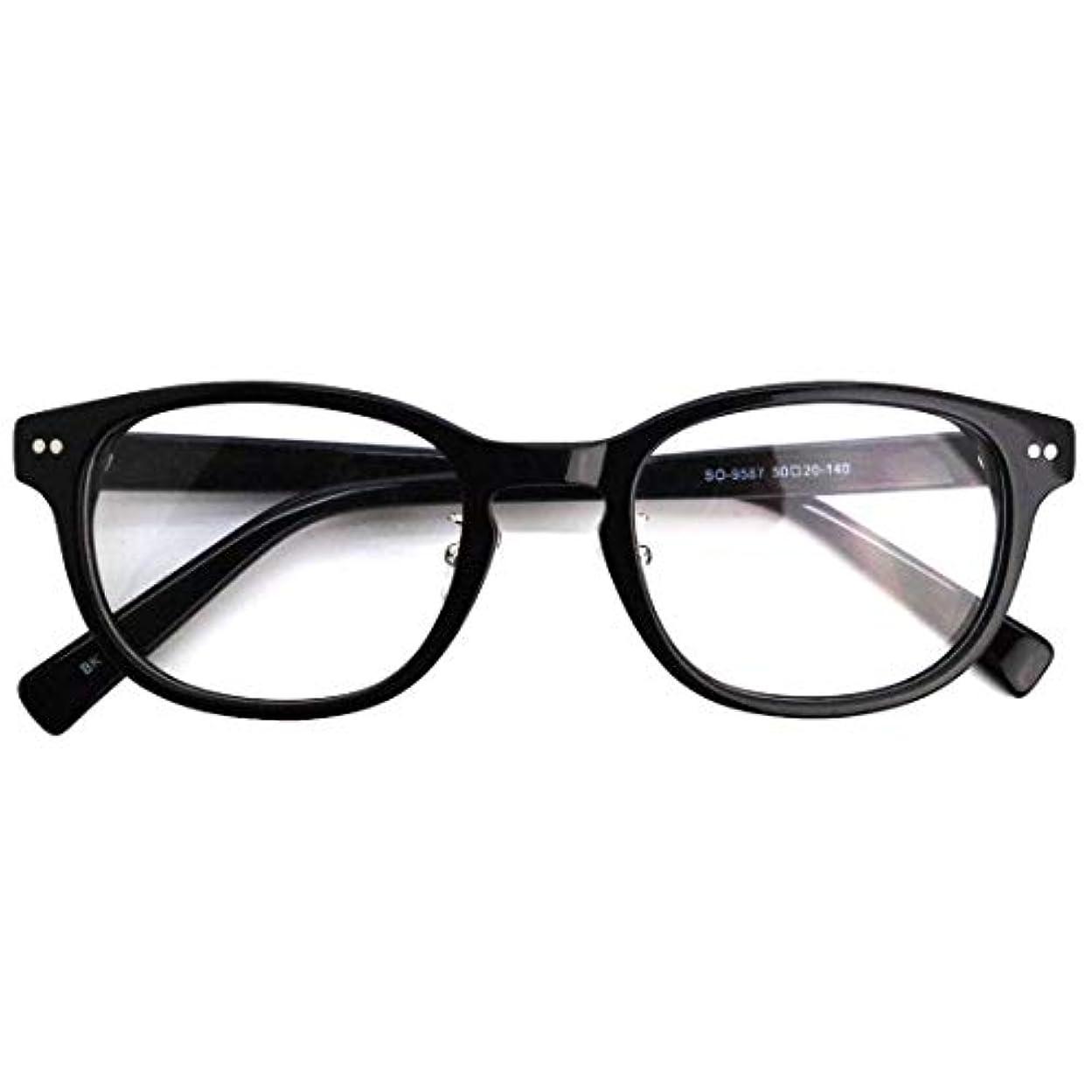 SHOWA (RSN) ウェリントン 遠近両用 メガネ (ブラック) (レディース セット) 全額返金保証 老眼鏡 リーディンググラス 眼鏡 (瞳孔距離:69mm~70mm, 近くを見る度数:+3.0)