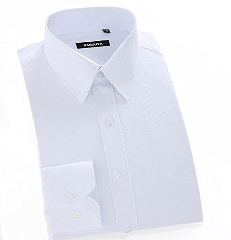 反対する輸送単位Happy snowflakes 男 ワイシャツ 2枚入り 通勤 ビジネス ブラウス 長袖 トップス 無地 オフィス 大きいサイズあり (175/92A/ 40)