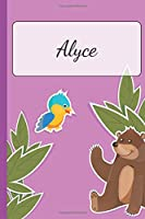 Alyce: Personalized Name Notebook for Girls | Custemized with 110 Dot Grid Pages | A custom Journal as a Gift for your Daughter or Wife | Perfect as School Supplies or as a Christmas or Birthday Present | Cute Girl Diary